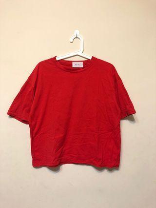 ♦️正紅短袖上衣♦️