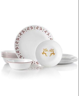 Corelle glass dinnerware 18pcs (for 6pax) made in USA