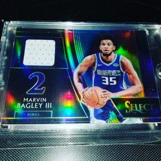 Select 2018 - 19 Marvin Bagley III Tye die jersey card /25