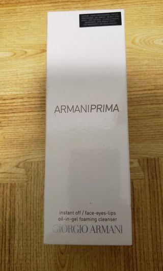 ARMANIPRIMA Instant Off/Face – Eyes – Lips Oil-in-gel Foaming Cleanser  雪凝光亮肌卸妝潔面啫喱#MTRtm