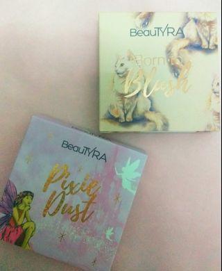 COMBO📌 BeauTyra Blusher In Feline & Pixie Dust Highlighter