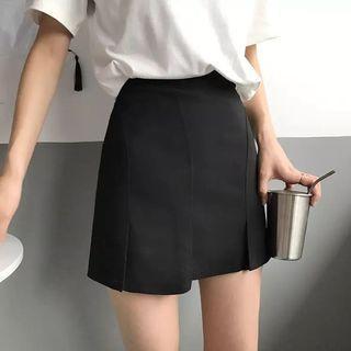 黑色半身裙 內有打底 skirt
