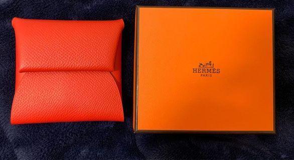 Hermes 艾瑪仕 愛馬仕 紅色零錢包