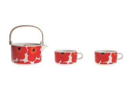 北歐芬蘭Marimekko teapot set tea set 茶具套裝 - Unikko 茶壺茶杯