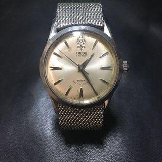 罕見大花刁陀大花底蓋 紐紋耳 自動全正常 勞力士的 古董錶 精工