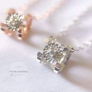 100條現貨特價,鑽石工場直銷 18K金💎牛頭項鍊 經典百搭 款式。必備單品 3分鑽石🉐️800 10分鑽石🉐️1050