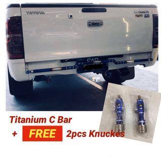 Titanium C Bar + Free 2 knuckes