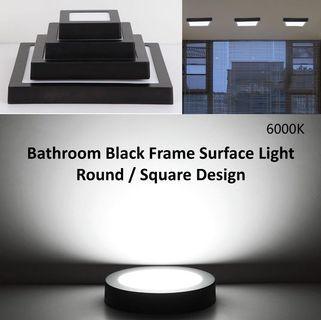Black Frame Surfaced Ceiling Light 18W