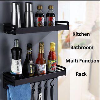 Black Matt Kitchen Rack / Black Matt Bathroom Rack