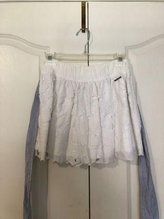 ABERCROMBIE AND FITCH layered lace skirt
