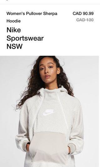 Nike Sportswear NSW Women's Pullover Sherpa Hoodie