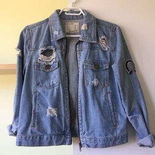 Cropped denim jacket M