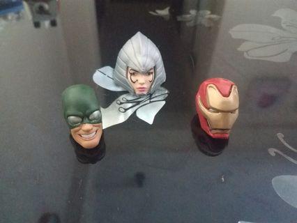 Marvel Legends heads