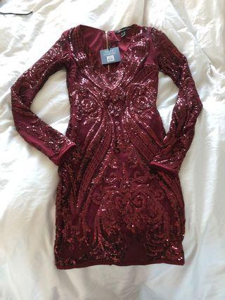BNWT - Red Sequin Dress XS