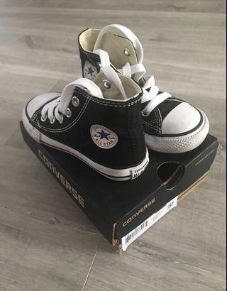 Converse kids toddler high cut sneaker shoes in black