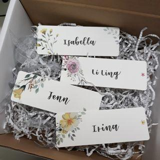 Personalised Bookmarks for Teachers' Day Children's Day Customised Bookmark Teachers' Day Gift Children's Day Present Teachers Day Teacher's Day Childrens Day Birthday Present Bulk Order Graduation Gift Farewell Gift Calligraphy Floral Bookmark