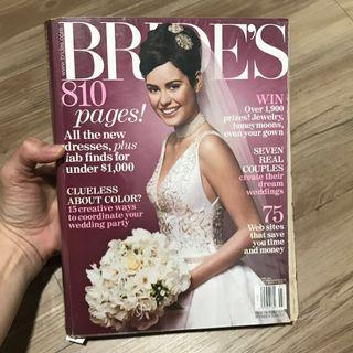 Majalah BRIDE import. 810 halaman. Edisi April 2005.
