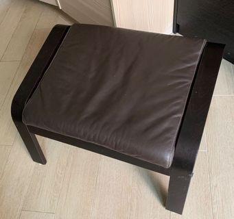 Ikea Poang Leather Footstool