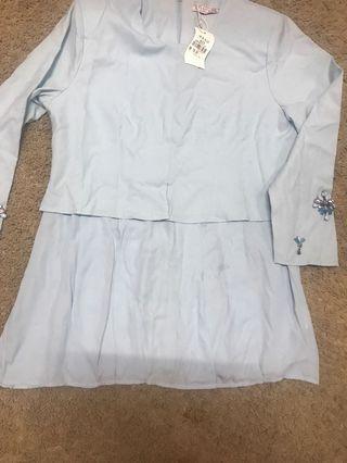 Baju kurung moden..biru muda