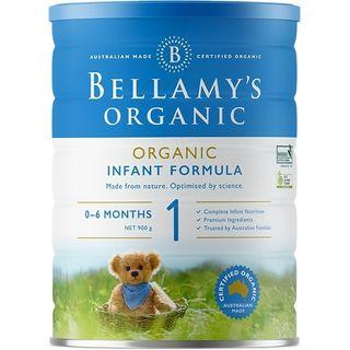 Bellamy's Organic Stage 1 infant formula from birth