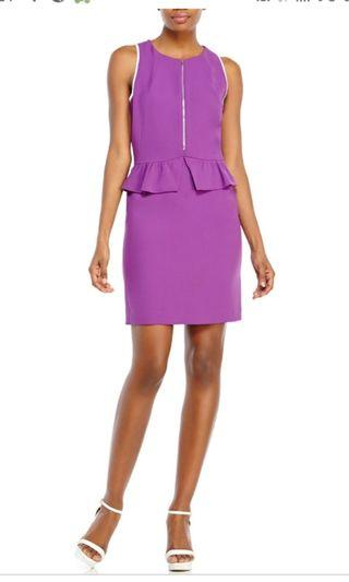 🚚 Sandro purple peplum dress