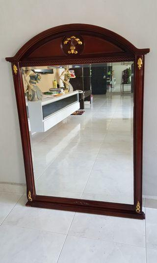 special sale dressing mirror with solid wood only 75 SGD