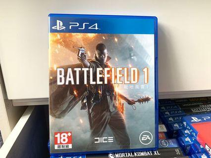 PS4 Battlefield 1 (香港版) 99%新 戰地風雲