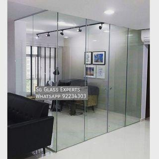 🚚 Hdb study room glass partition