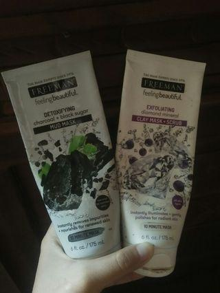 Paket Combo Freeman Mask (Mud mask + Diamond mineral)