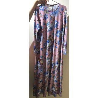 Floral Jubah (FITS UP TO XL)