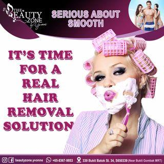 Permanent hair removal opt SHR unlimited shoots