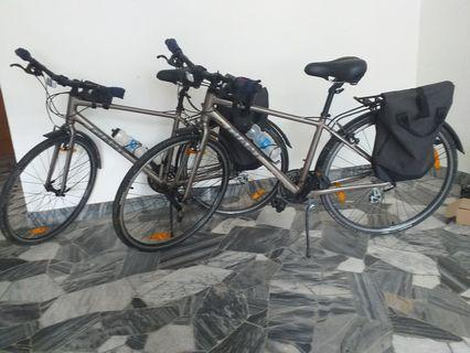 2 Giant Hybrid Bicycles and 1 Bike Rack For Sell