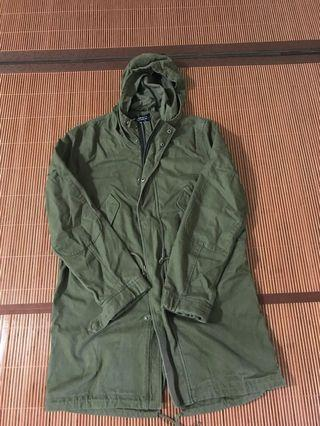 🚚 Esprit Army Green cotton Pakka Jacket