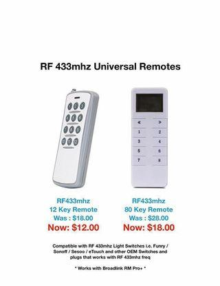 RF 433mhz Remotes - Funry - Broadlink - Smart Home Automation
