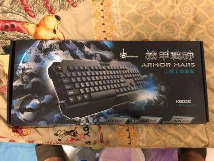 【二手少用】RONALD 羅納多 機甲戰神 KB-038 人體工學 電腦鍵盤