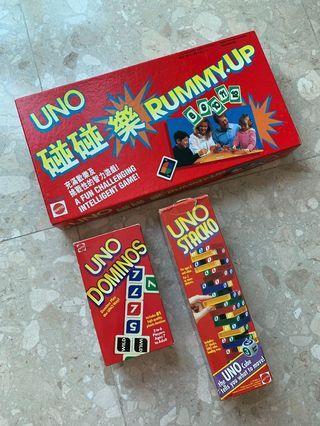 Uno - Stacko, Dominos, Rummy-Up