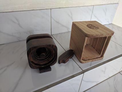 Speaker kayu Tanpa listrik Ruaya
