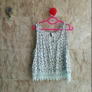 H&M Sleeveless Lace Top #APR75