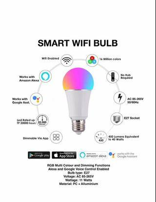 Simply Smart WiFi Bulb - e27 RBG 11W - Alexa & Google Enabled - Broadlink - Smart Home Automation