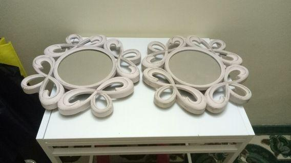 Light pink Mirror Decor