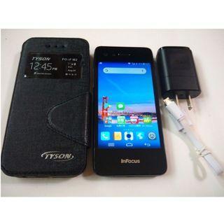 <二手良品螢幕無刮傷>黑色富可視InFocus M2 4GLTE 4.2吋 8百萬相機 安卓4.4 功能正常只要1200