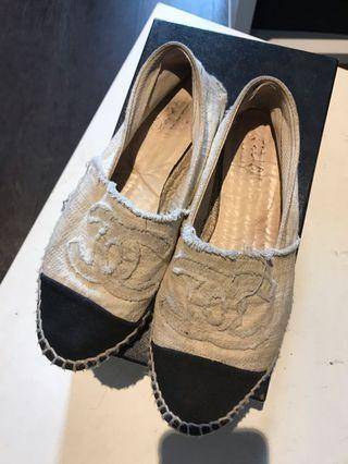 Chanel espadrilles shoes size 36