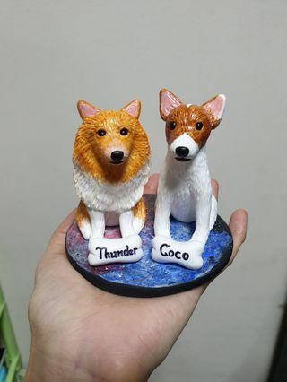 Customise JR & POM figurine made of polymer clay