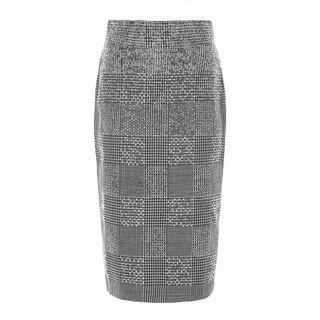 Pencil skirt with sparkling details