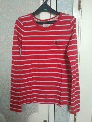 Red stripe shirt kaos