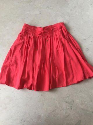 mango fuchsia mini skirt