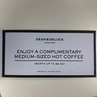 Dean & Deluca - complimentary medium size hot coffee worth $6.5