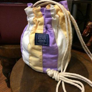 可愛 鵝黃 粉紫 Mini 水桶包