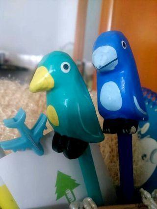 🚚 北歐風藍綠造型鸚鵡鉛筆