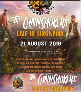 HTB Chainsmoker singapore concert